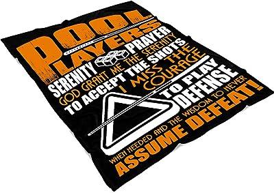 "OAKSTORE Pool Player Soft Fleece Throw Blanket, Playing Pool Fleece Luxury Blanket (Large Fleece Blanket (80""x60"") - Black)"