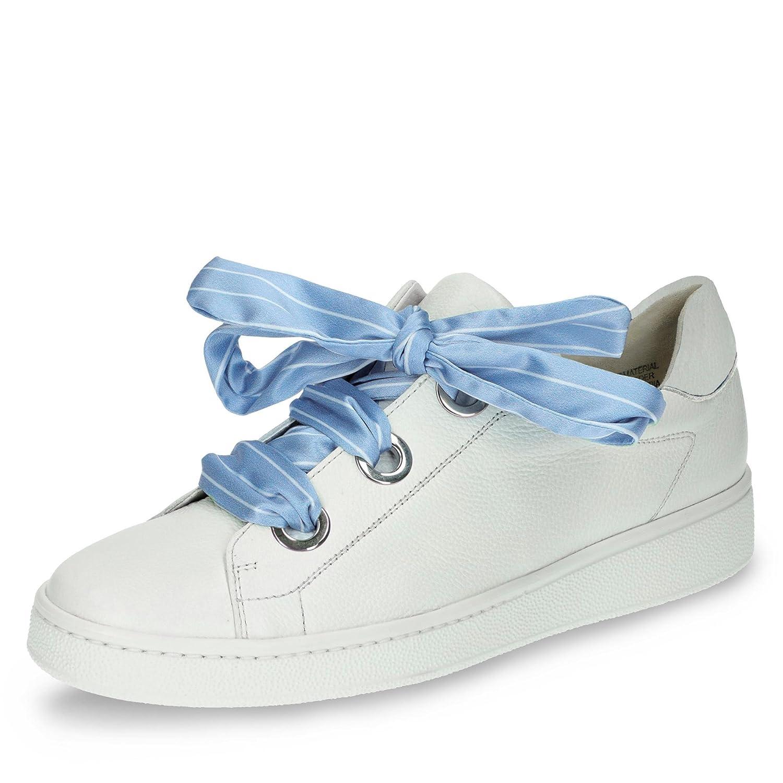 4575-002 Damen Modischer Sneaker aus Weichem Glattleder Lederfutter, Groesse 6, Weiß Paul Green