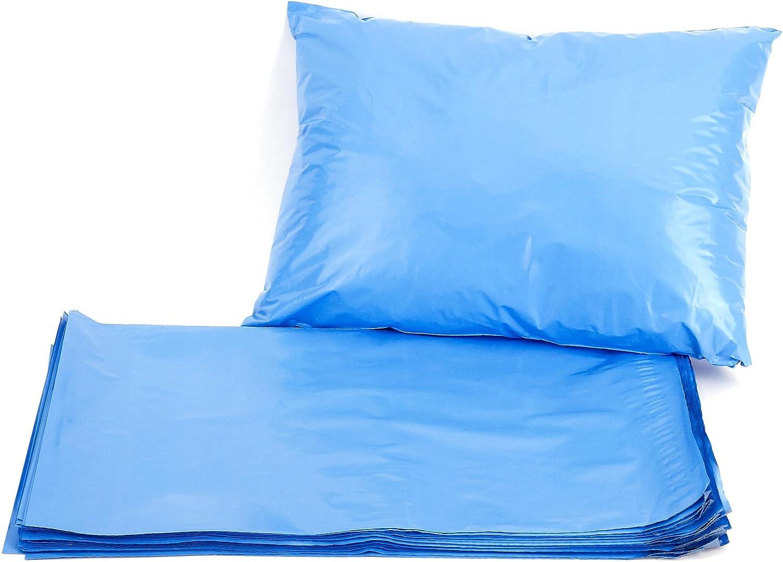 Hamimelon - 50pcs Bolsas Sacos Sobres Postales para Envíos por Correo Bolsas de Plástico, Azul (255X355MM)
