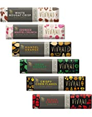 Vivani Organic Chocolate Pack de 6: Cereza Negra 35g, Copos de Maiz Crujientes 35g
