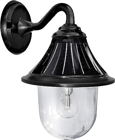 GAMA SONIC GS-114B-FPW-BLK Prairie Bulb Lamp Outdoor Solar Light Fixture Pole Pier /& Wall Mount Kits Black