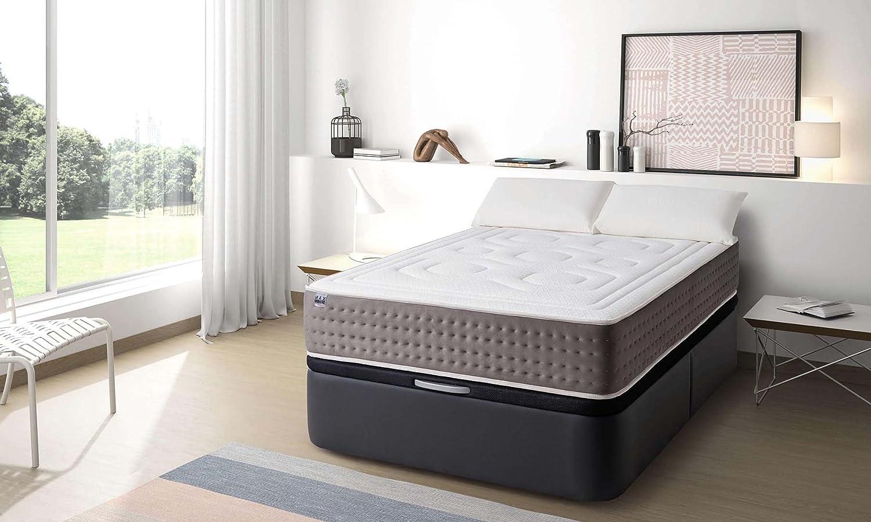 MAXCOLCHON Pack Colchon Luxe-Grafeno + Almohada + Canape Abatible 120x180: Amazon.es: Hogar