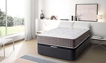 MAXCOLCHON Pack Colchon Luxe-Grafeno + Almohada + Canape Abatible 160x200: Amazon.es: Hogar