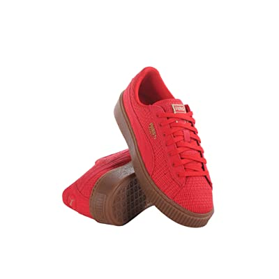 364847-01 WOMEN BASKET PLATFORM WVN PUMA RED