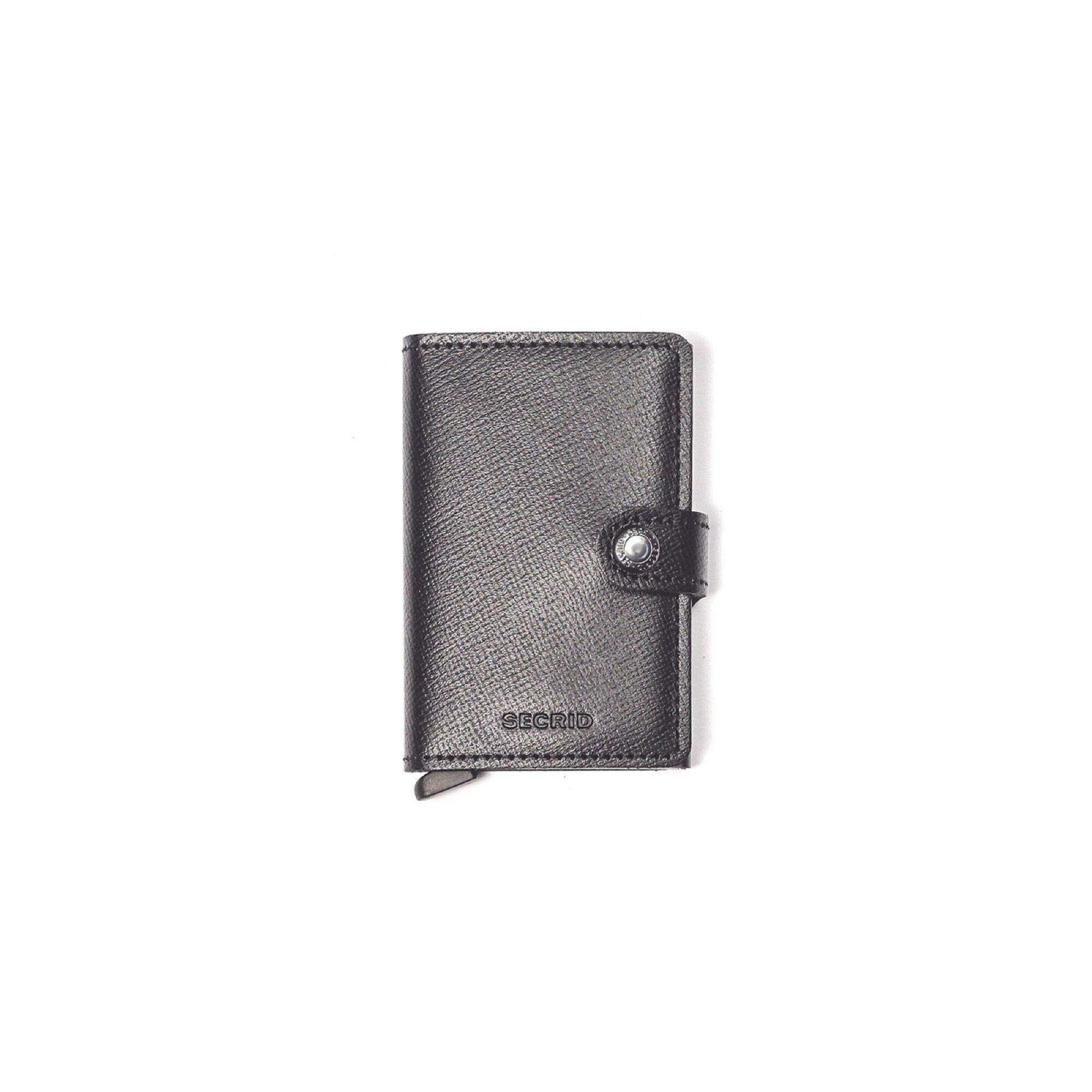 Secrid mini wallet genuine black leather with RFID protection / with one click all cards slide out gradually