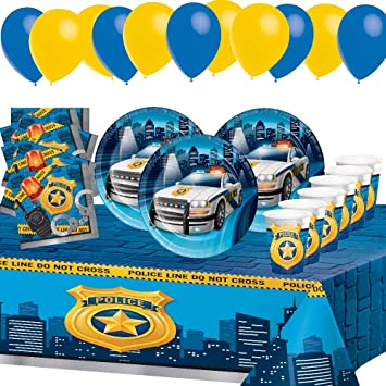 Desconocido Fiesta de Cumpleaños Della Policia Vigilantes Civilizado para 8 Niños Chico Decoración Infantiles Mesa 1 Mantel 8 Tazas 16 servilletas 8 ...