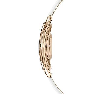 Amazon.com: Swarovski Crystalline White Oval watch 5230946 Woman White Leather: Swarovski: Watches