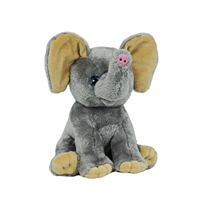 "BEAREGARDS.COM Personal Recordable Talking Teddy Bear / Baby Heartbeat 8"" Elephant with 20 sec Digital Recorder: Toys & Games"
