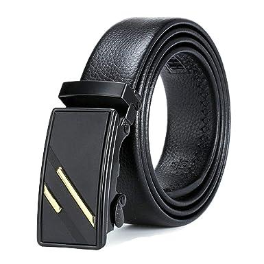 ROMQUEEN Cinturones Casual Hombre Cinturón de Cuero Hombres ...
