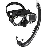 Cressi Perla Mare Maske Şnorkel  Seti, Serbest Yüzme ve Serbest Dalış İçin İdeal Maske Şnorkel Set Siyah(Dark) Tek Beden