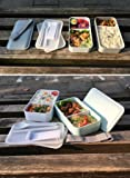 PuTwo Lunch Box, Bento Box Containers with Cutlery, Double Stackable Boxes, Leakproof, Microwave, Freezer, Dishwasher Safe, BPA-Free, Blue