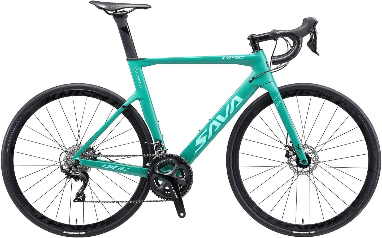 SAVADECK Bicicleta de Carretera Fibra de Carbono con Freno de ...