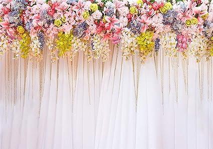 Dan Dlam Fotowand Fotovorhang Fotohintergründe Hochzeit Blume Vorhang Fotobooth Hintergrund 3x2m Sport Freizeit