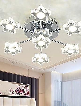 RXFRD LED Kristalllampe Wohnzimmer-Lampe Stern-Schlafzimmer-Lampe ...