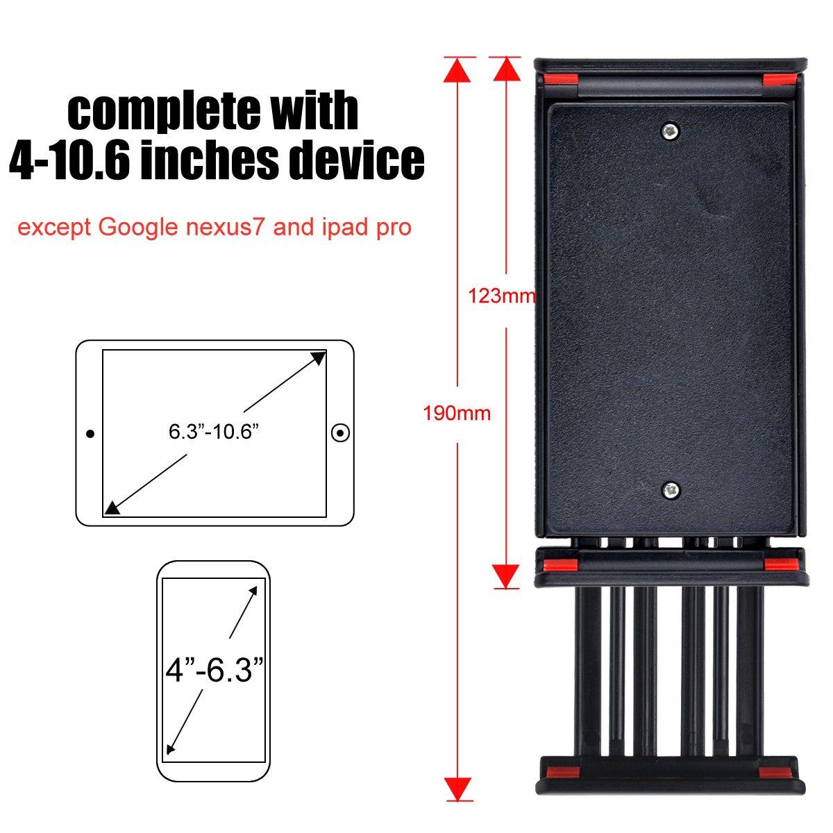 MOACC 360 Adjustable Gooseneck Tablet Phone Stand Cell Phone Holder(Black)