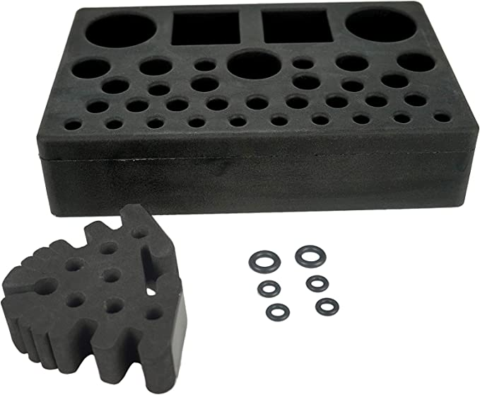 CNC Machined Fly Tying Tool Caddy Fits Almost All Standard Vise Stems Aircraft T