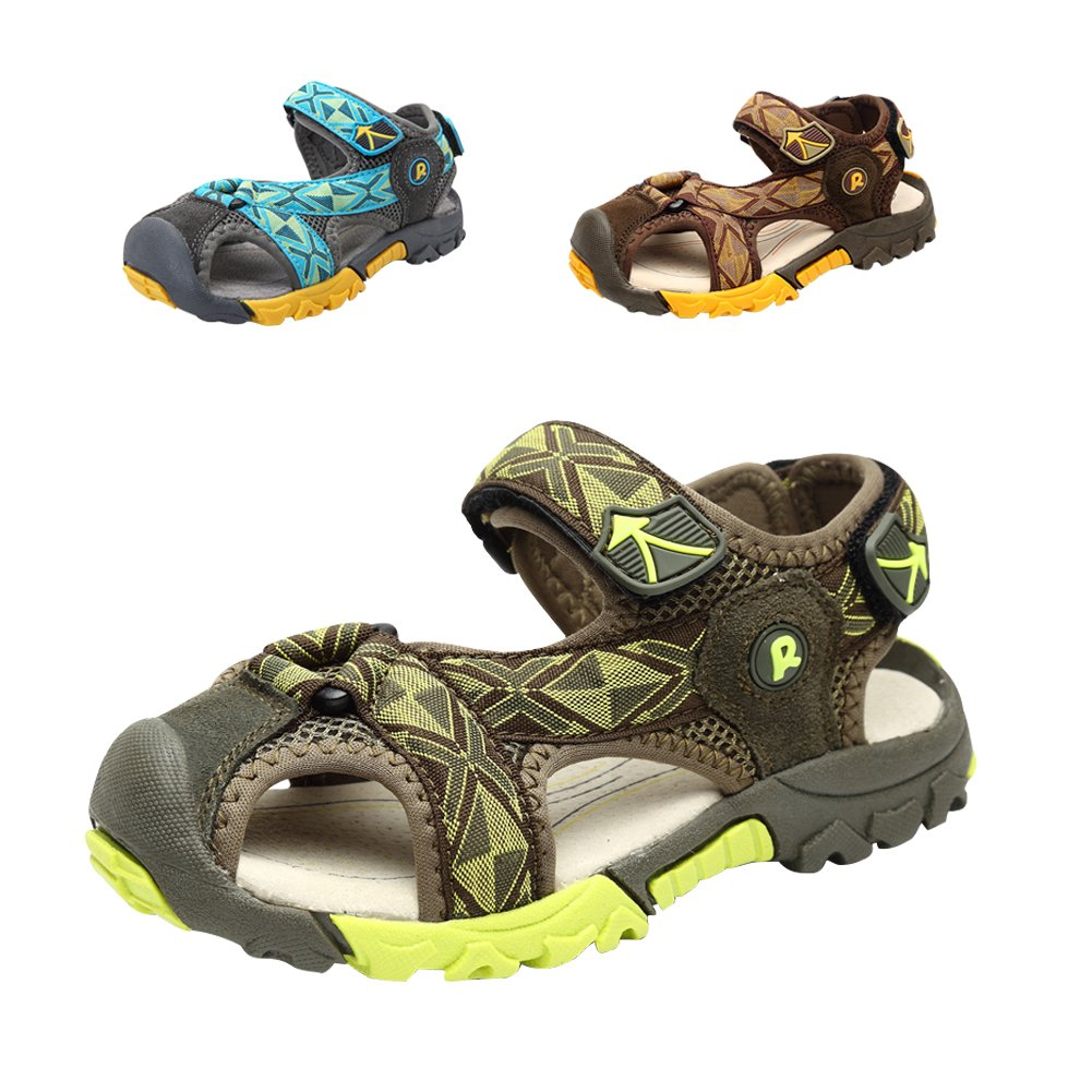 Gloria JR Sommer Athletic Strap Geschlossen-Toe Sandale Für Kleinkind Little Kid Big Kid (EU 31 (UK12 Little Kid=19.8cm), Khaki)