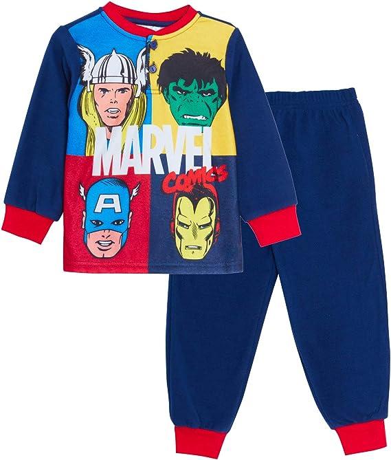 Boys Marvel The Avengers Hulk Iron Man Captain America Pyjamas