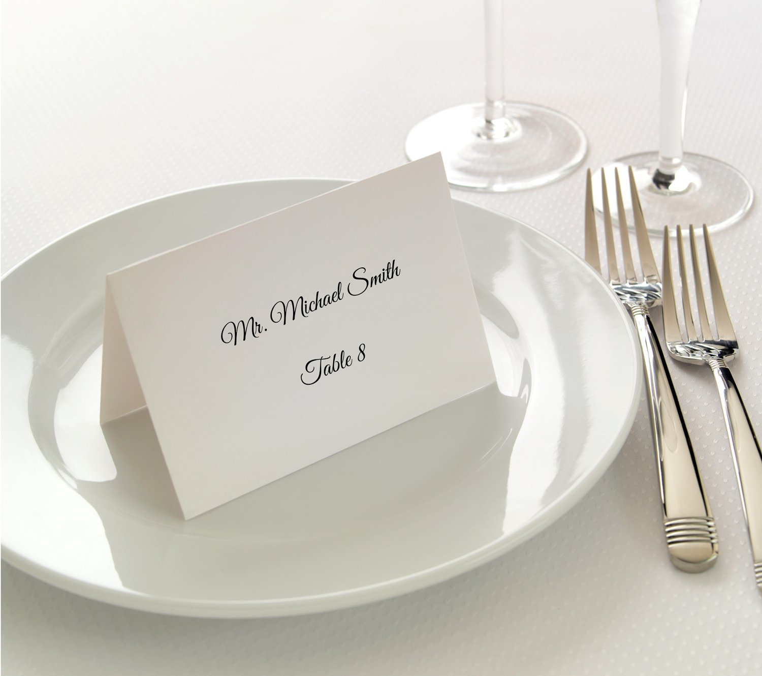 Small White Place Cards - Printable Tent Cards for Inkjet & Laser Printers - 200 Tent Cards