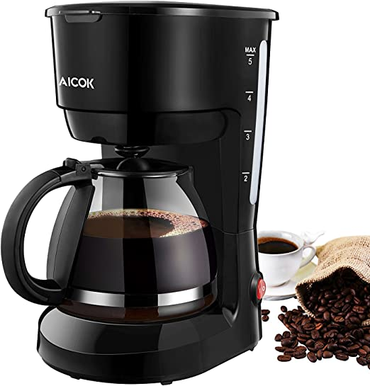 Amazon.com: Coffee Maker 5 Cup, Aicok Coffee Pot Machine ...