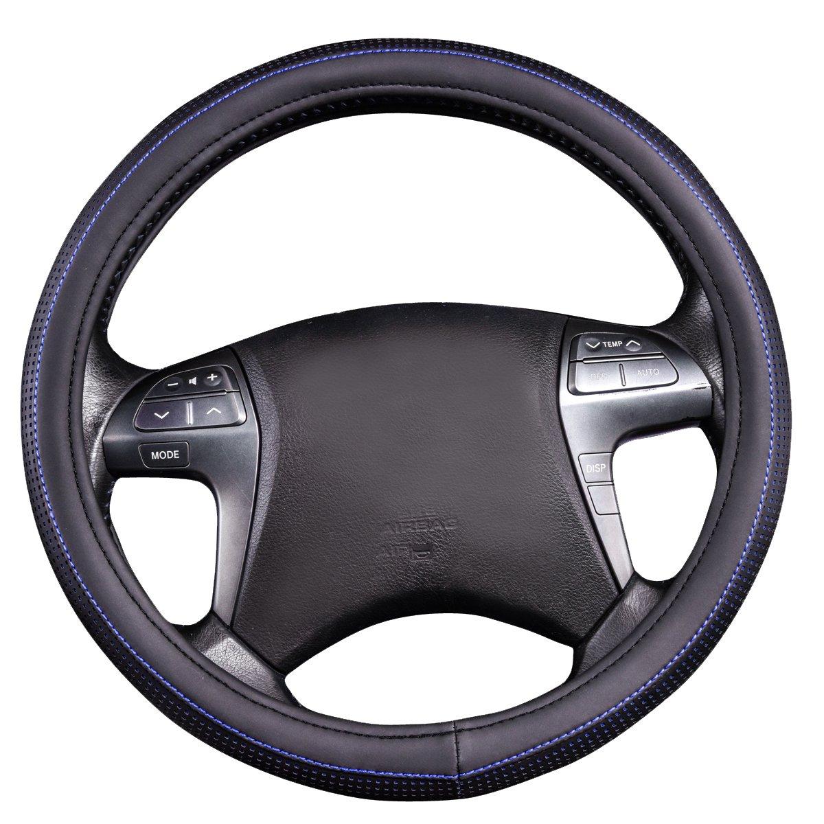 15 CAR PASS Universal cuero Forma Microfibra Suave Funda para Volante Cubierta del Volante del Coche Universal Di/ámetro 38cm