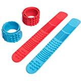 Sensory Slap Fidget Bracelet Bands - 2-Pack - Quiet Tactile Stimulation for ADHD, Autism, Special Needs Kids - Helps Girls &