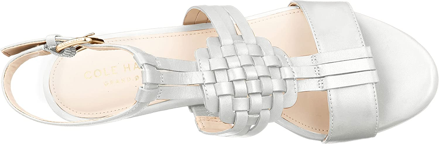 Cole Haan Womens Findra Woven Slide Wedge Sandal