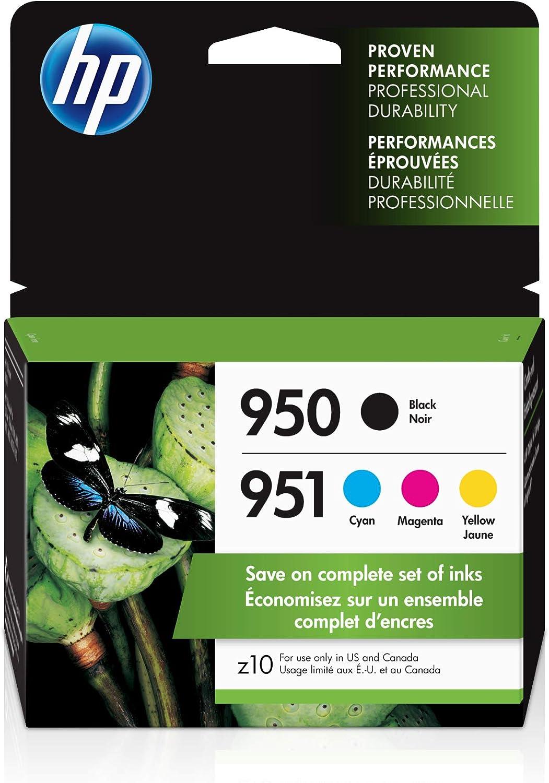 HP 950 & 951   4 Ink Cartridges   Black, Cyan, Magenta, Yellow   CN049AN, CN050AN, CN051AN, CN052AN