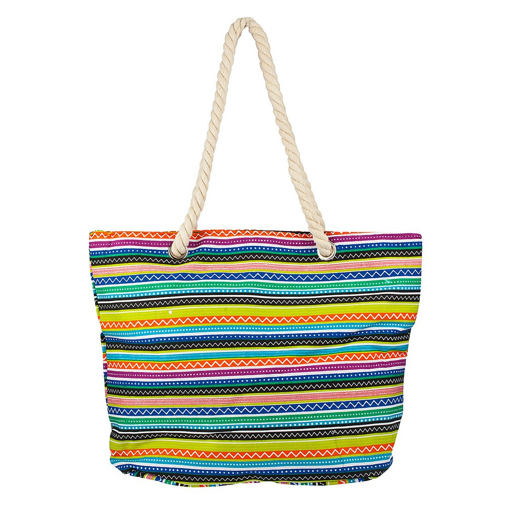 8926c3e6a7 Lux Accessories Womens Extra Large Zip Up Beach Tote Bag Aztec Pastel Line