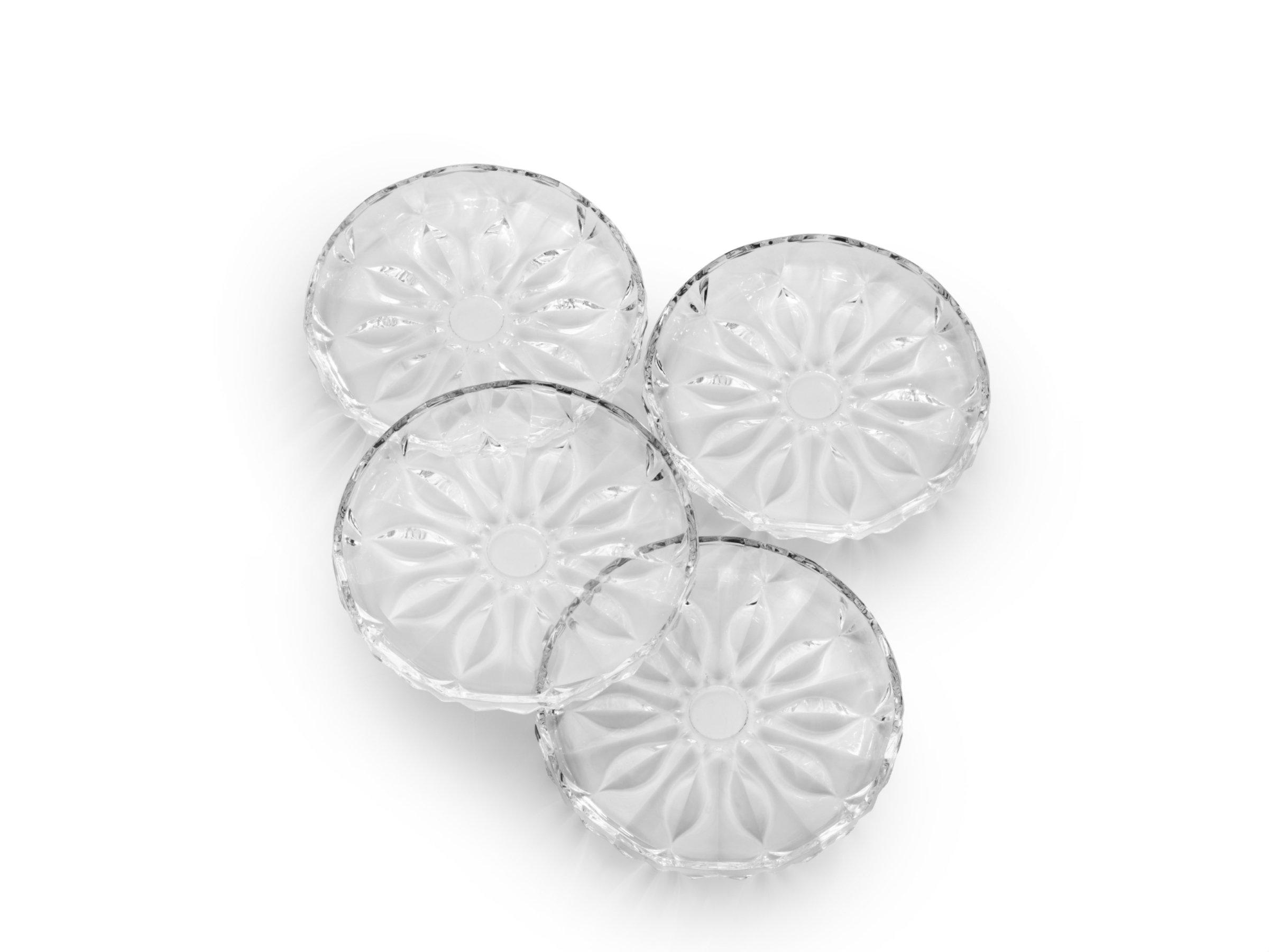 Celebrations by Mikasa Blossom Glass Appetizer Plate, 7-Inch, Set of 4