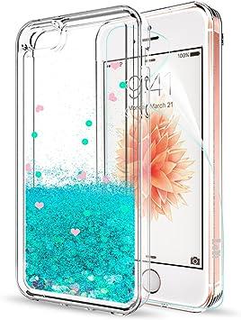 LeYi Funda iPhone 5/5S/SE con HD Protector Pantalla Original