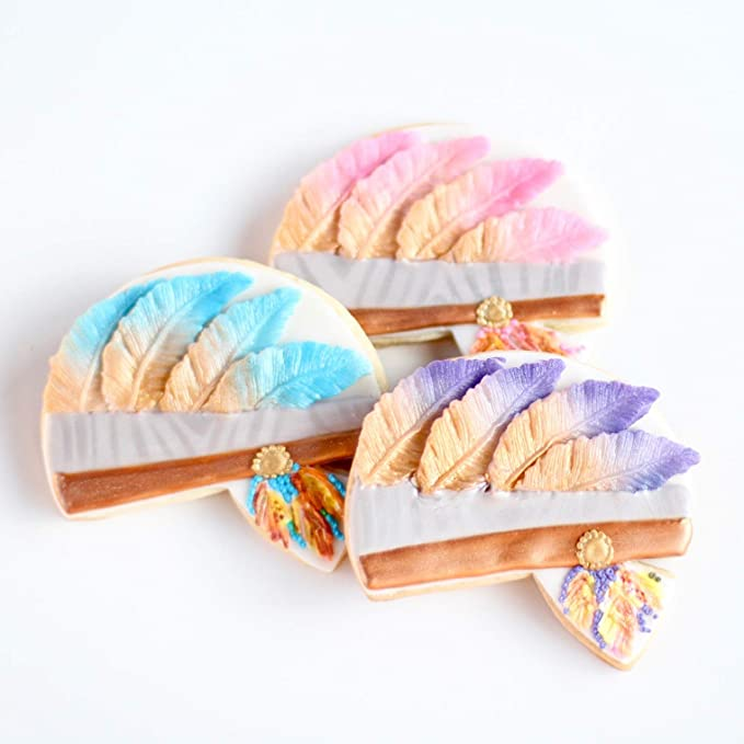 1 1/2 Dz. ¡Boho Tribal Headdress Cookies! Chic bohemio con ...