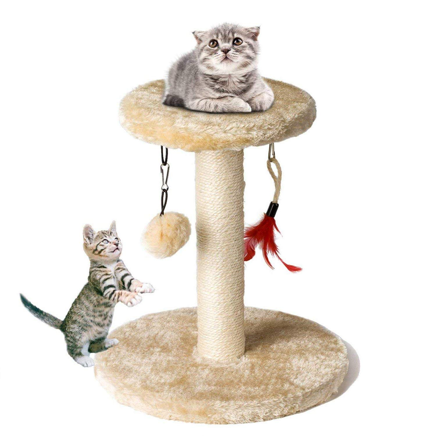 Cat Tree Tower, Zubita Cat Climber Shelf Pet Kitty Furniture Scratching Post Climber House for Playing Relax and Sleep.