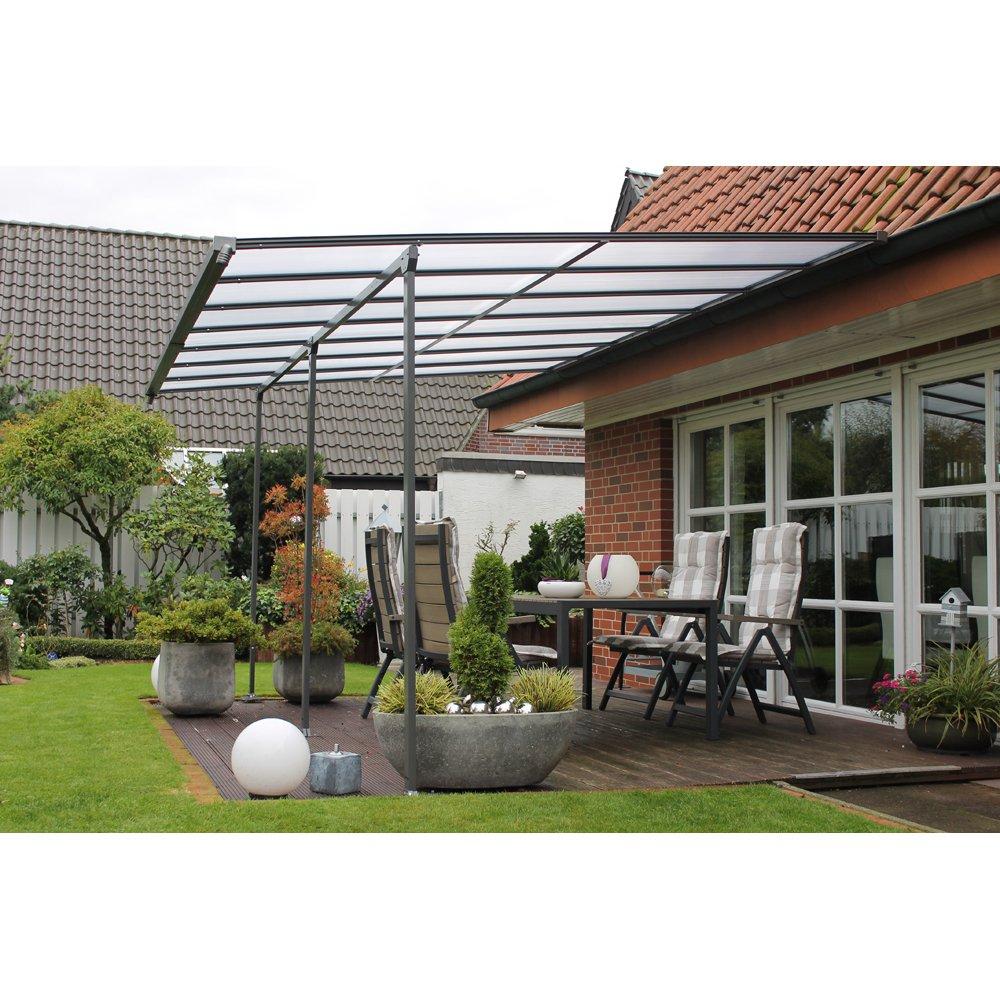 leco anbau terrassen berdachung grau braun 400x300 cm g nstig bestellen. Black Bedroom Furniture Sets. Home Design Ideas