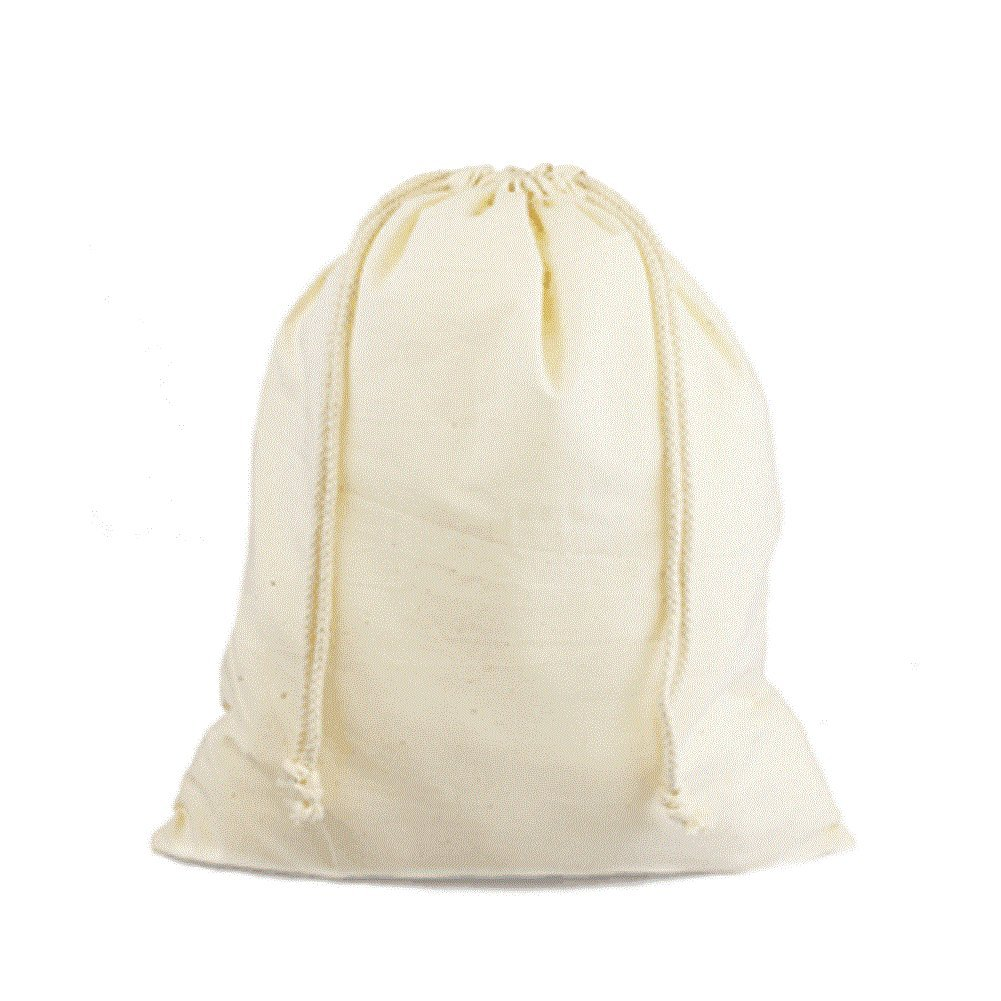 Cotton Drawstring Muslin Pouches Drawstring Favor Bags (Pack of 12) (12'' x 14'')