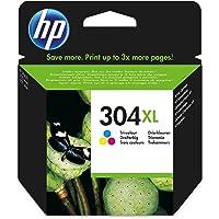 HP N9K07AE 304XL High Yield Original Ink Cartridge Tri-Colour (Cyan, Magenta, Yellow), Pack of 1