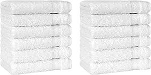 Cotton Castle Premium Original Turkish Cotton 12 Pieces Washcloths 13
