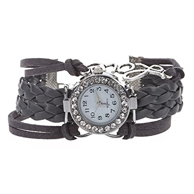 925100dc6d3 Buy TOOGOO(R) ToogooR Watch Rhinestone Watch Infinity Love Charm Gray Online  at Low Prices in India