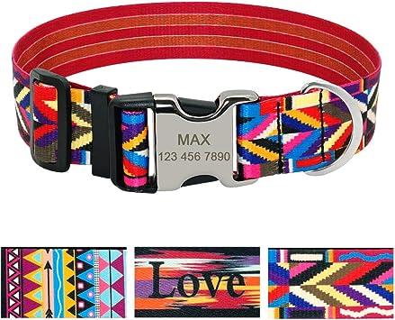 Beirui Fashion Patterns collar para perro personalizado con ...