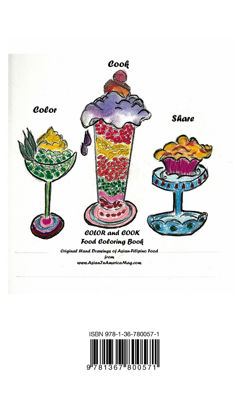 amazoncom color and cook food coloring book 9781367800571 elizabeth ann besa quirino books - Food Coloring Book