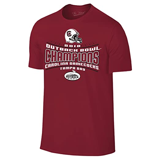 932c51a6821 South Carolina Gamecocks 2018 Outback Bowl Champions Football T-Shirt -  Small - Cardinal