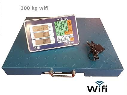 Báscula bilico Digital WiFi electrónica profesional 300 kg LCD sin hilos