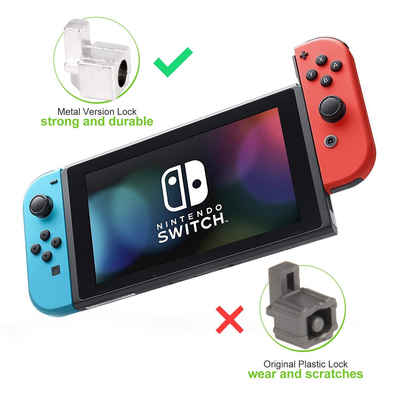 Hebillas para controles Joy-Con de Nintendo Switch – Younik set de herramientas para reemplazar cerrojos de metal con destornilladores y pinzas para ...