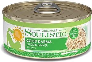 Soulistic Originals Good Karma Chicken Dinner in Gravy Wet Cat Food, 5.5 oz., Case of 8, 8 X 5.5 OZ