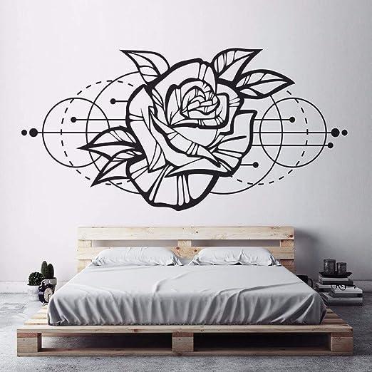 YuanMinglu Apliques de Pared de Flores Rosa decoración de ...