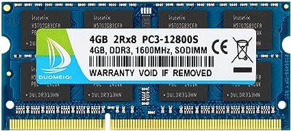 2x4GB PC3-12800s DDR3-1600MHz 2Rx8 Non-ECC Hynix HMT351S6CFR8C-PB 8GB