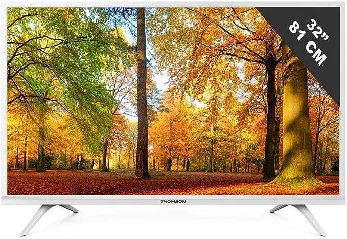 Thomson 32HD3341W - Televisor LED HDTV de 80 cm (32 pulgadas, conector para auriculares, 2 x 5 W): Amazon.es: Electrónica