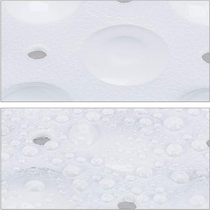 extra gro/ße Badewanneneinlage Bambus 100x40cm wei/ß Saugn/äpfe Antirutsch Wannenmatte Massage Relaxdays Badewannenmatte