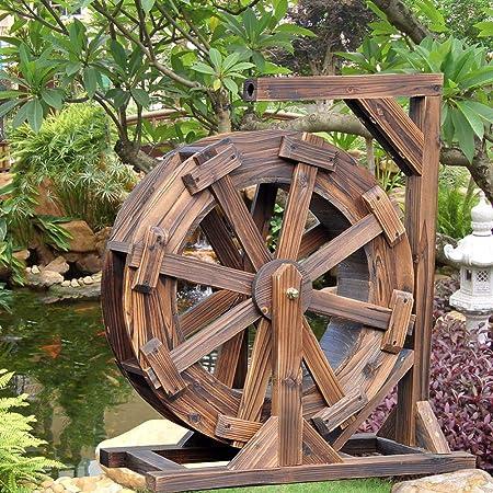 Rueda De Agua Fuente Patio Jardín Característica del Agua Feng Shui Ruedas Patio Bomba Decorativa Al Aire Libre,30cm: Amazon.es: Hogar