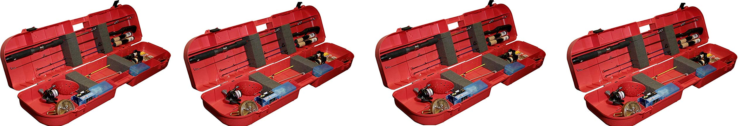 MTM Ice Fishing Rod Box (Red) (Pack of 4)